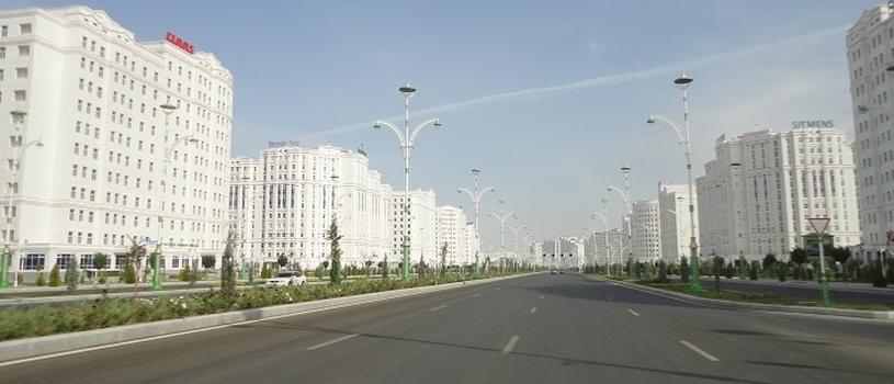 ashgabat empty streets
