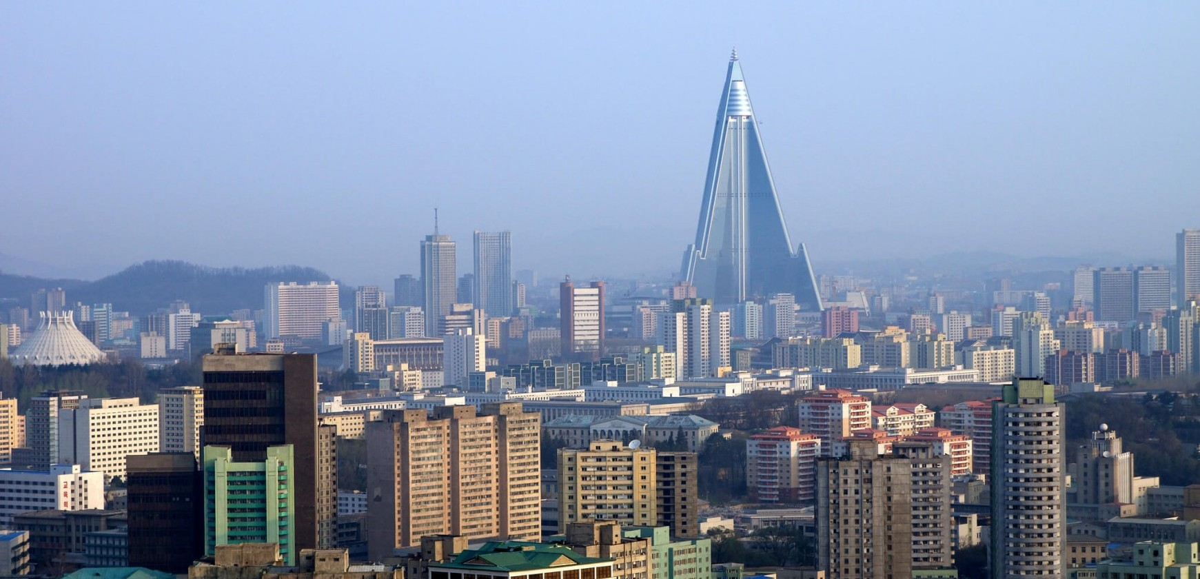 View of Pyongyang, North Korea