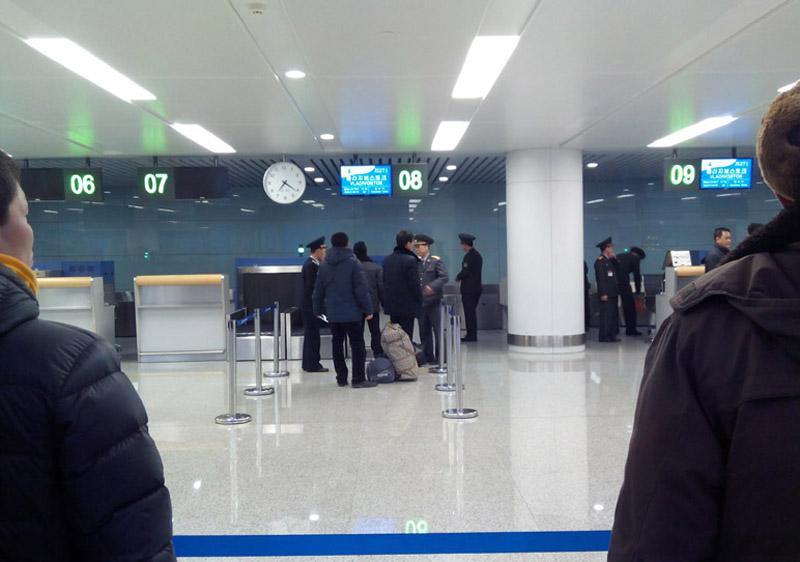 Pyongyang Sunan Airport Check in counter