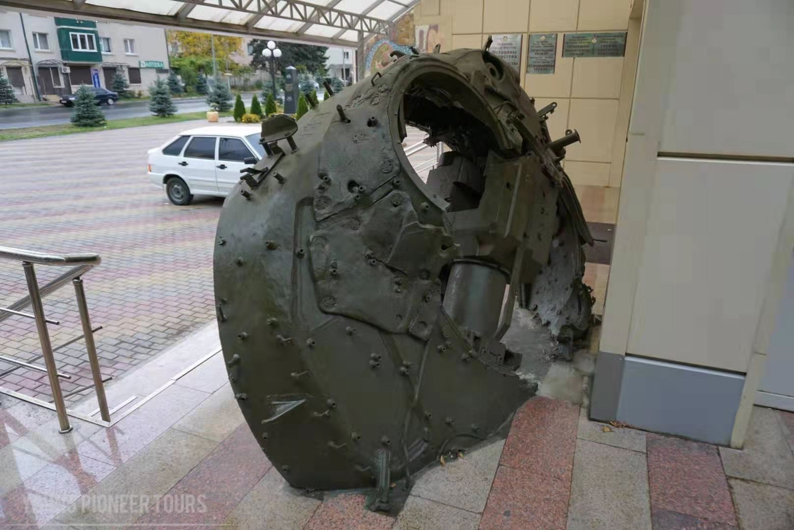 Tank pieces in South Ossetia