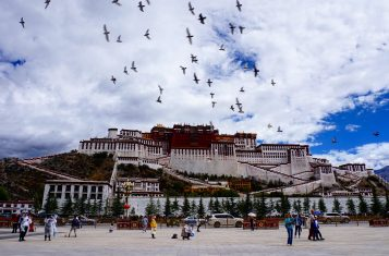 The potala palace in Lhasa, Tibet province of China