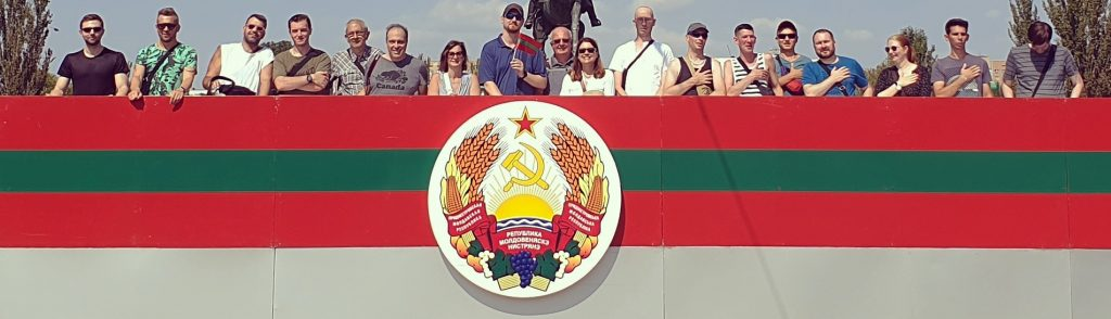 Our group attending Transnistria National Day Soviet Parade in Europe