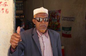 Sunglasses-wearing Somaliland man
