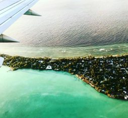 seeing kiribati from the plane