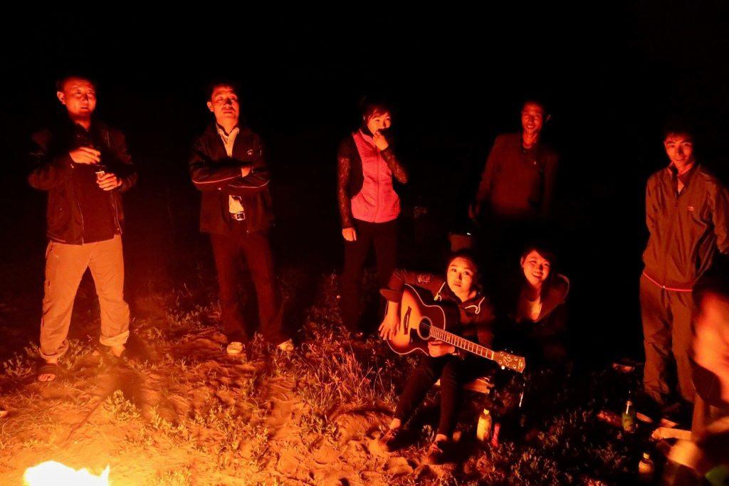 north korea homestay bonfire