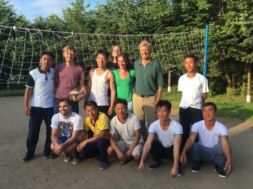 north korea homestay volleyball
