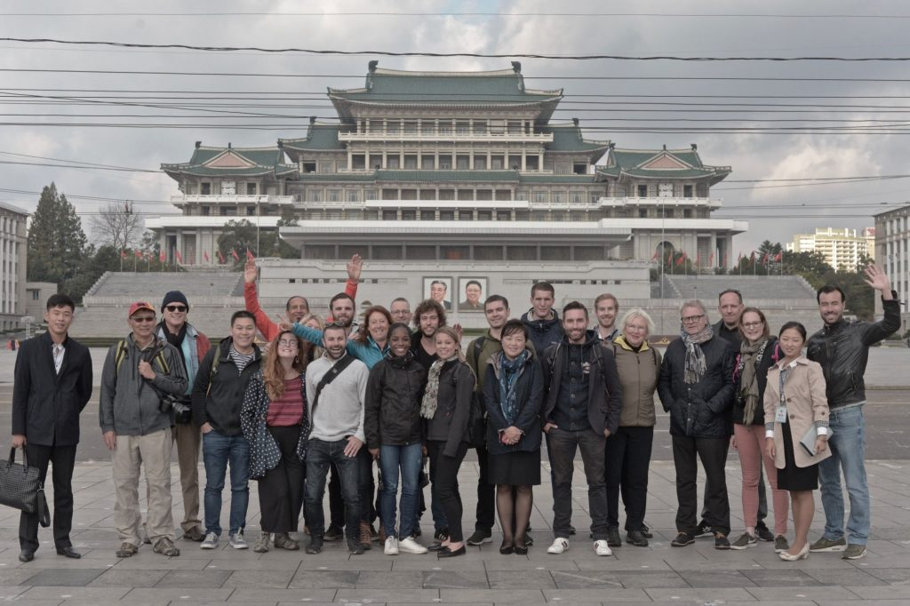 Our group standing on Kim Il Sung Square