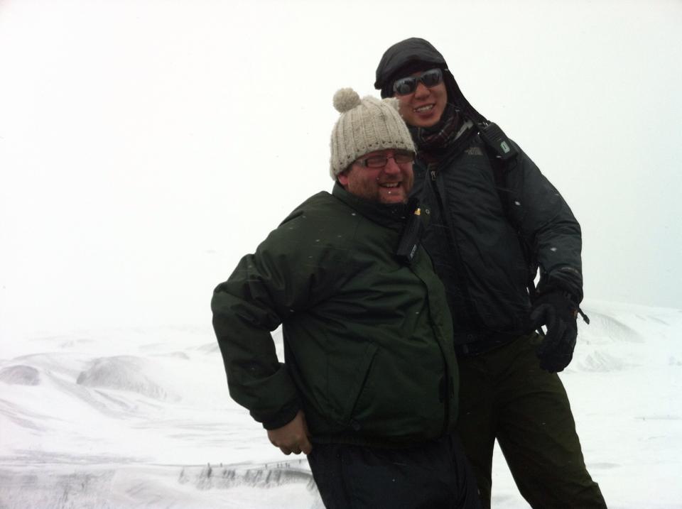 Gareth Johnson in Antarctica