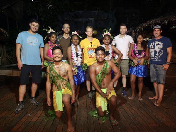 A group of Melanesian dancers