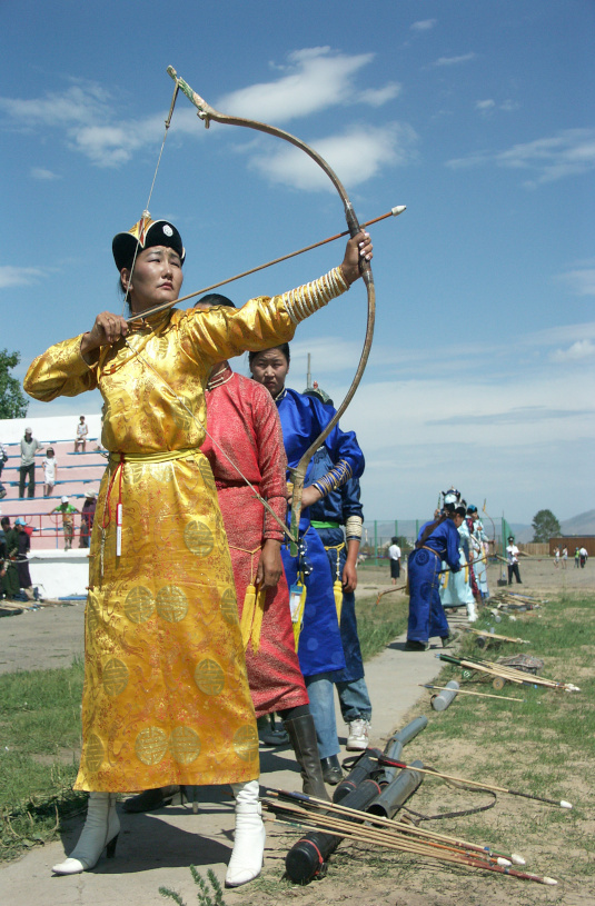 Archery, a popular sport in Mongolia and Inner Mongolia