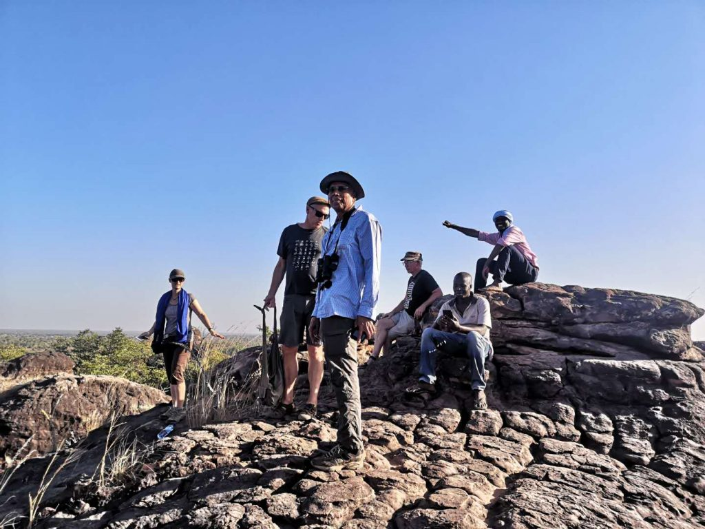 Our group on top of the rock formations of Banfora