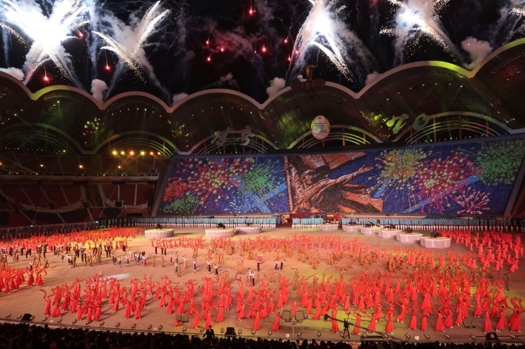 The Rungrado May Day stadium as seen during the mass games