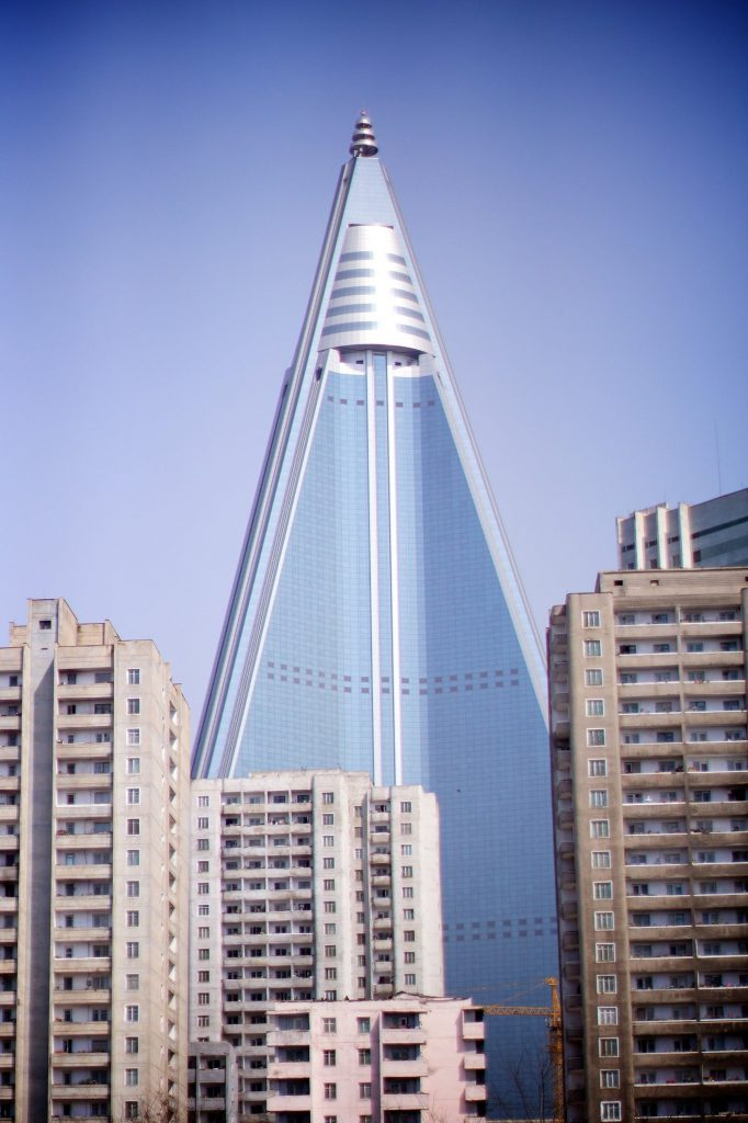 The Ryugyong hotel or hotel of doom of Pyongyang