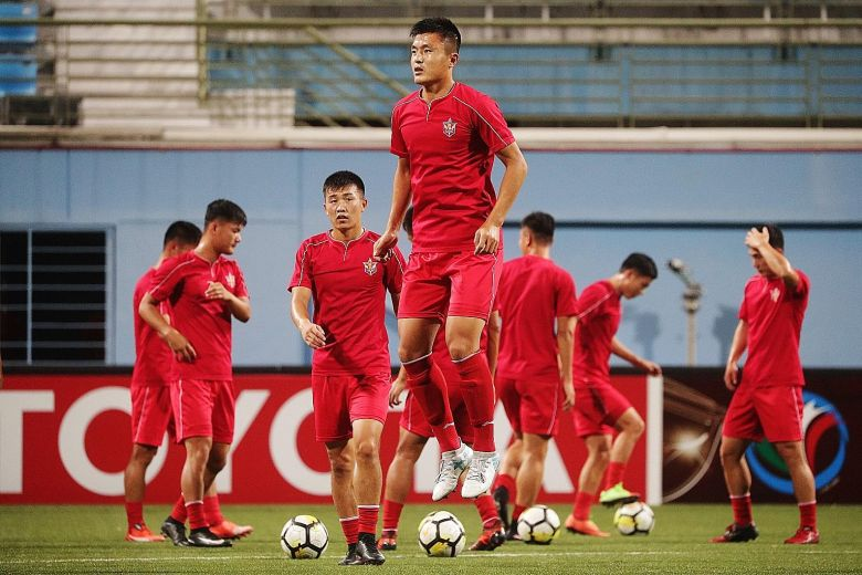 April 25, the football team from North Korea playing for the AFC