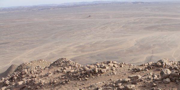 The desert landscape of Bir Tawil. Plenty of space to play football in Bir Tawil