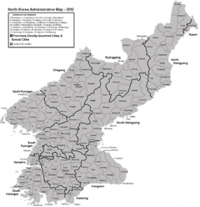 North Korea provinces