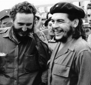 Che Guevara and Fidel Castro during the Cuban Revolution.