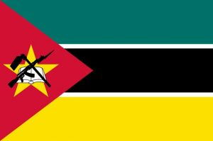 The flag of Mozambique, featuring the AK-47.