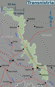 A map of Transnistria's borders.