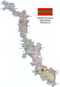 A map of Transnistria.