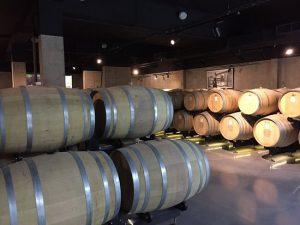 Wine cellar at Zolotaya Balka, home of Crimean wine.