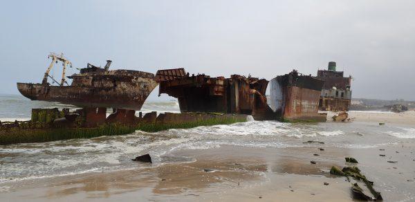 Shipwreck Beach in Angola.