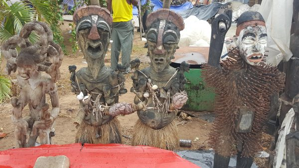 Traditional statues in Angola