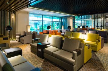 An airport lounge.