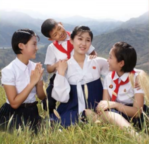 Promotional image for the North Korean movie 'the Story of our Home'