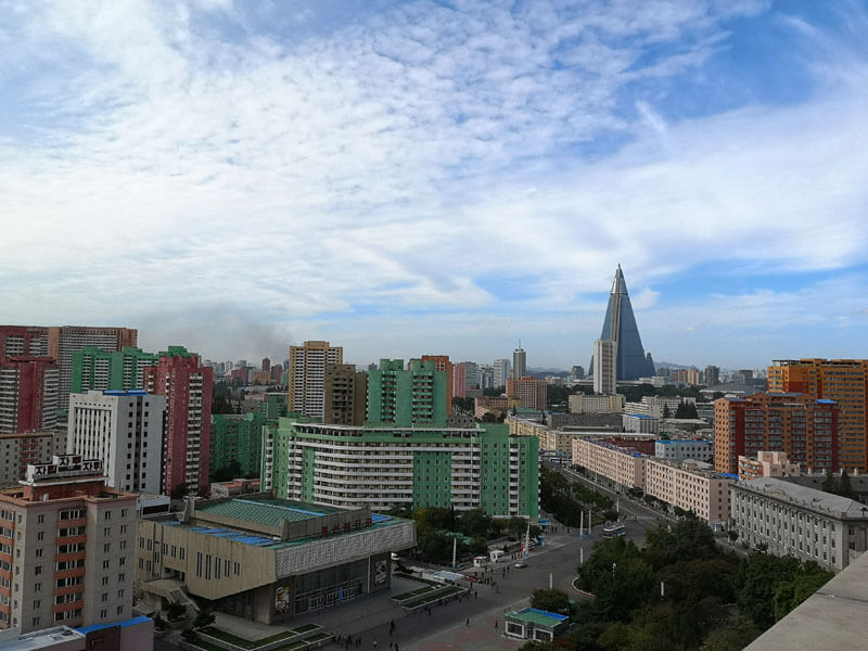 A view of what is the capital of north korea : Pyongyang