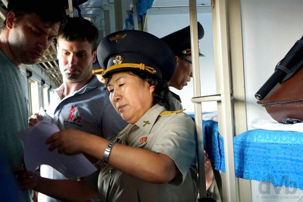 North Korea custom officers