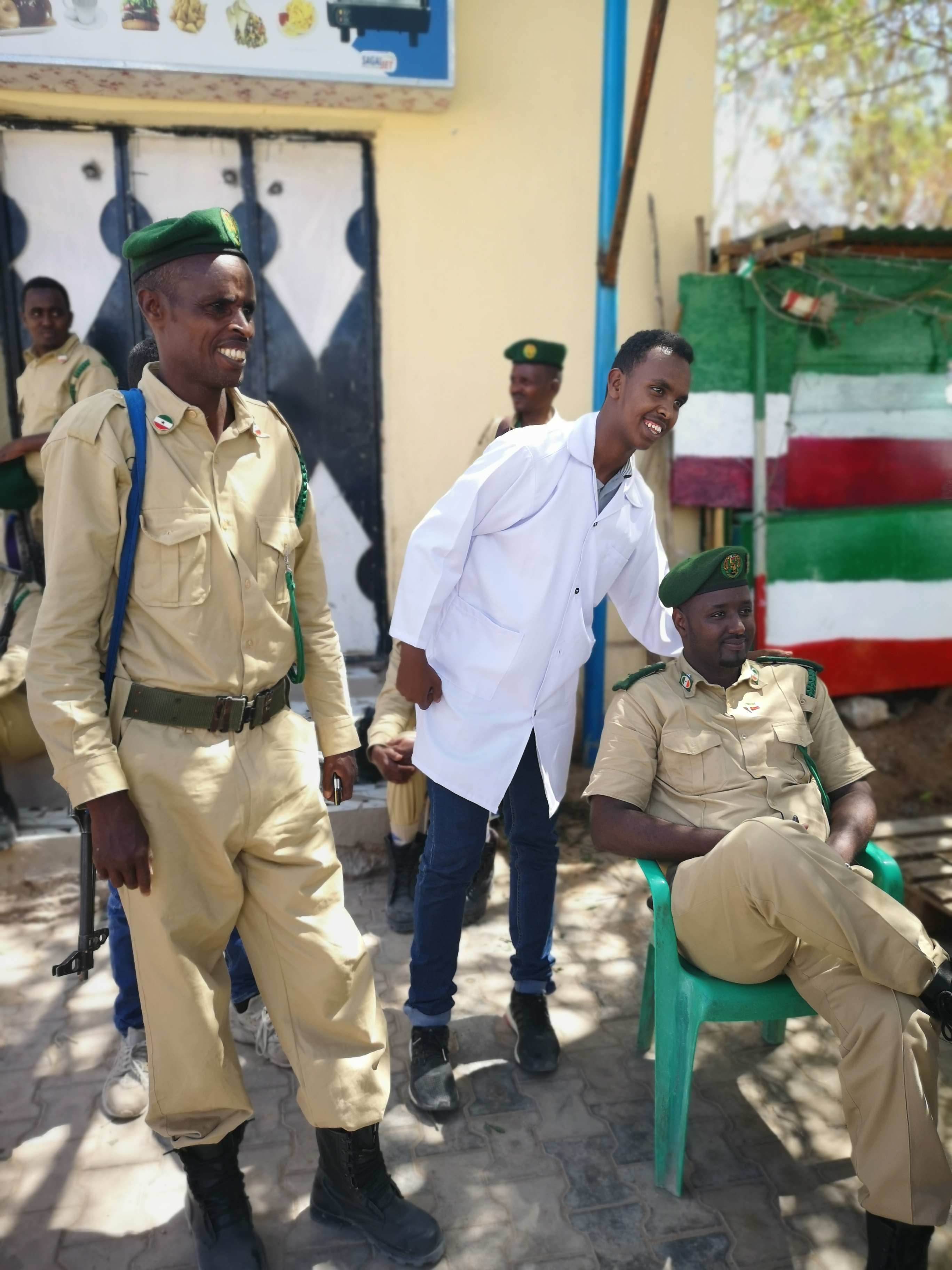 Soldiers resting during the Somaliland Independence Day Parade
