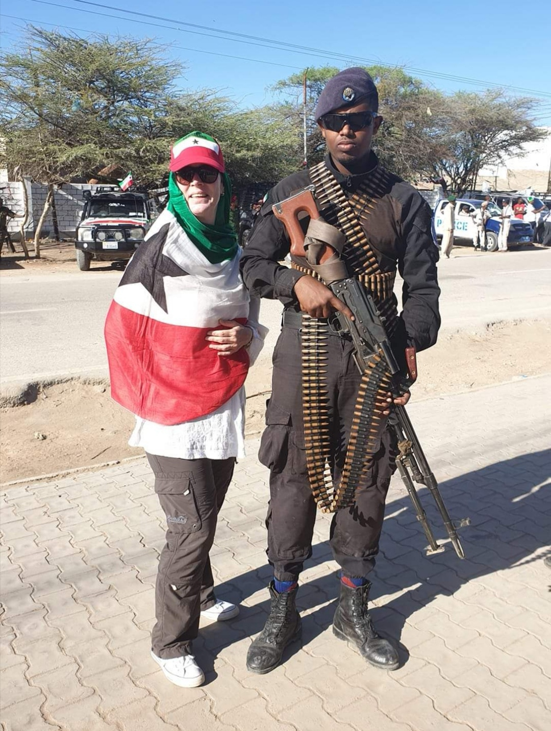 A Somaliland Soldier armed to the teeth during Somaliland Independence Day Parade