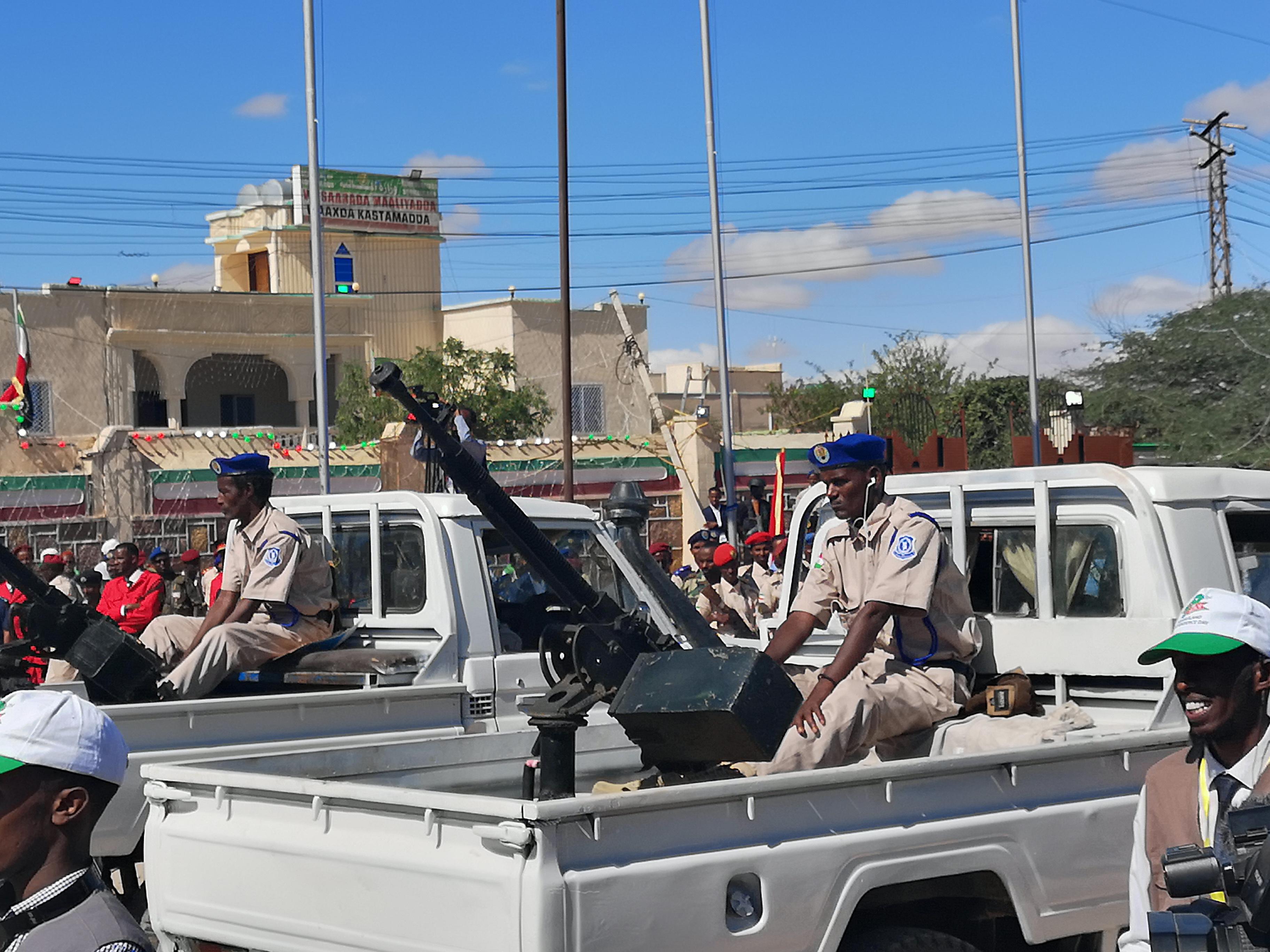 Mounted Gun during the Somaliland Independence Day Parade