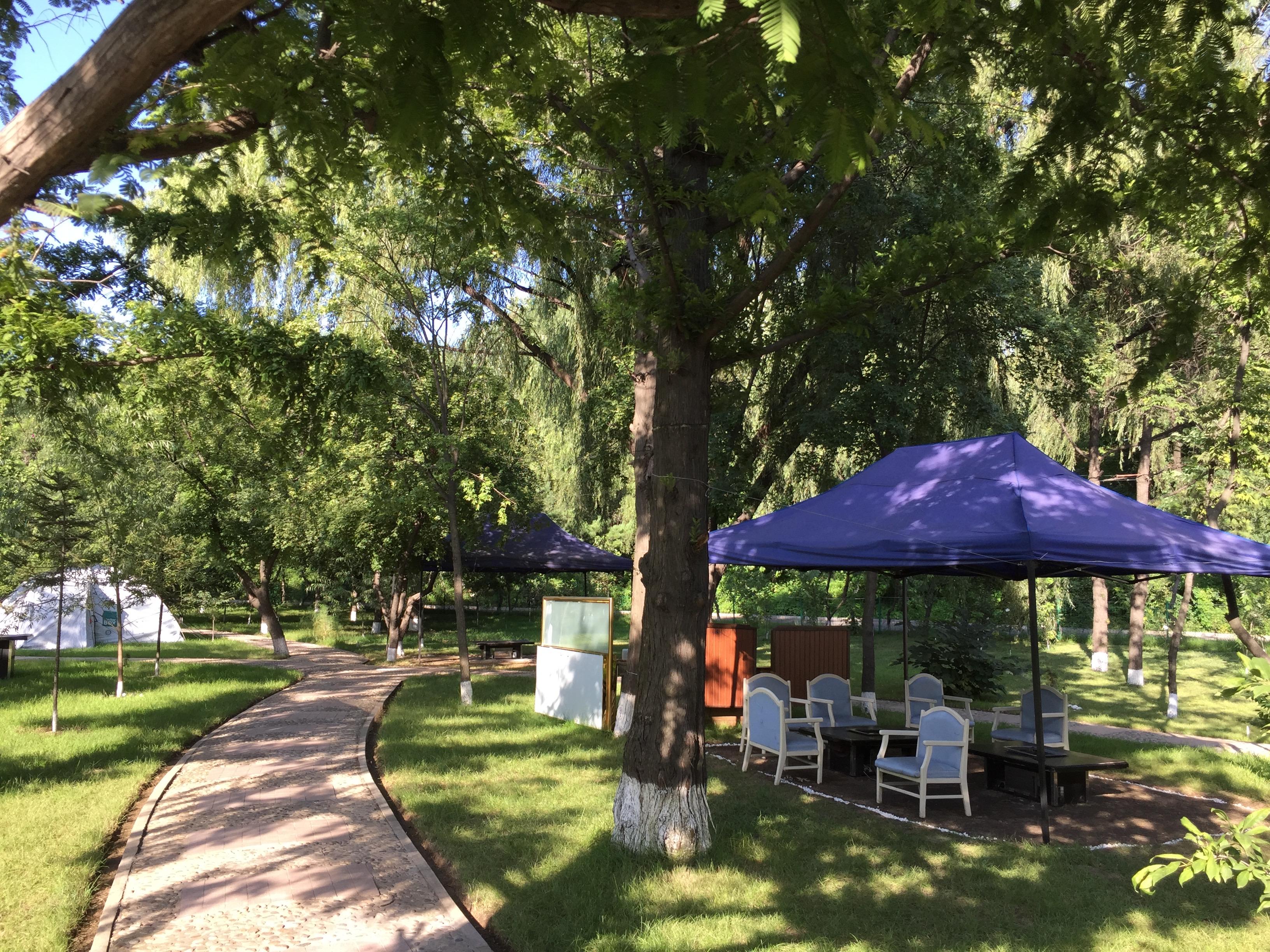 Beer Garden of the Sosan Hotel