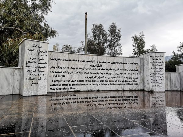 Grave to the victims of the Halabja massacre