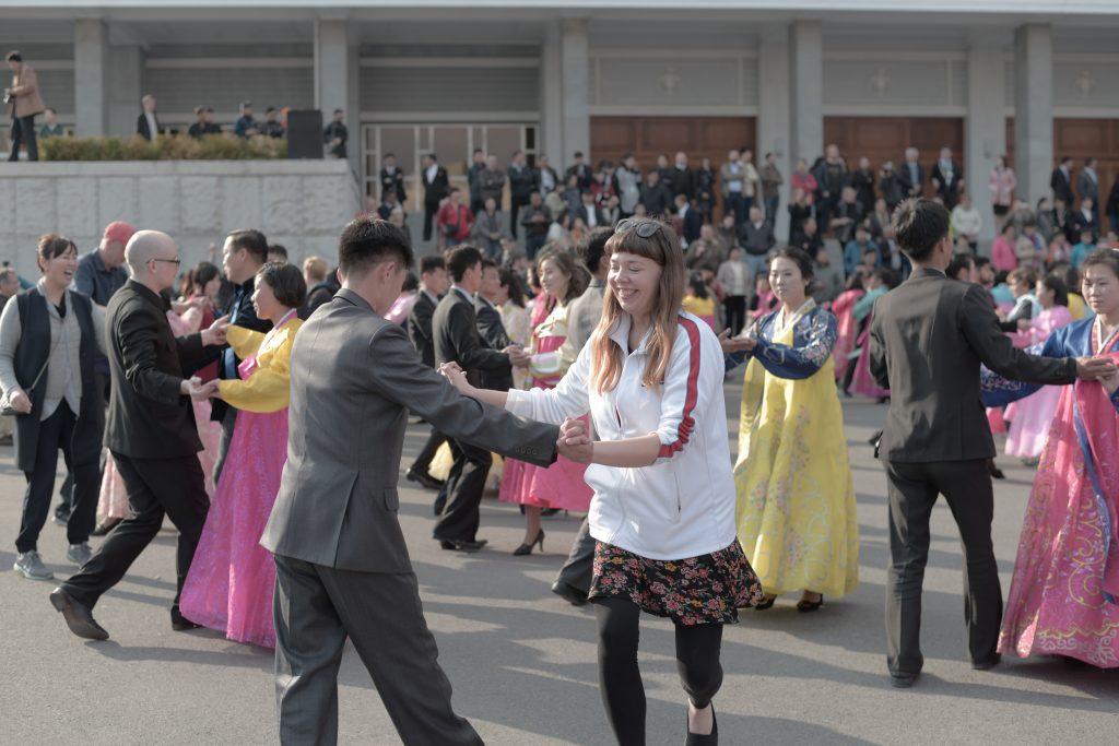 One of many north korean customs, mass dancing