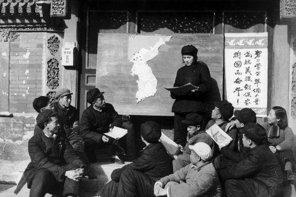 photo of korea before the war: Political propaganda talks