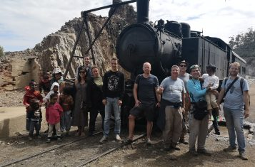Our group in front of the steam train of Eritrea