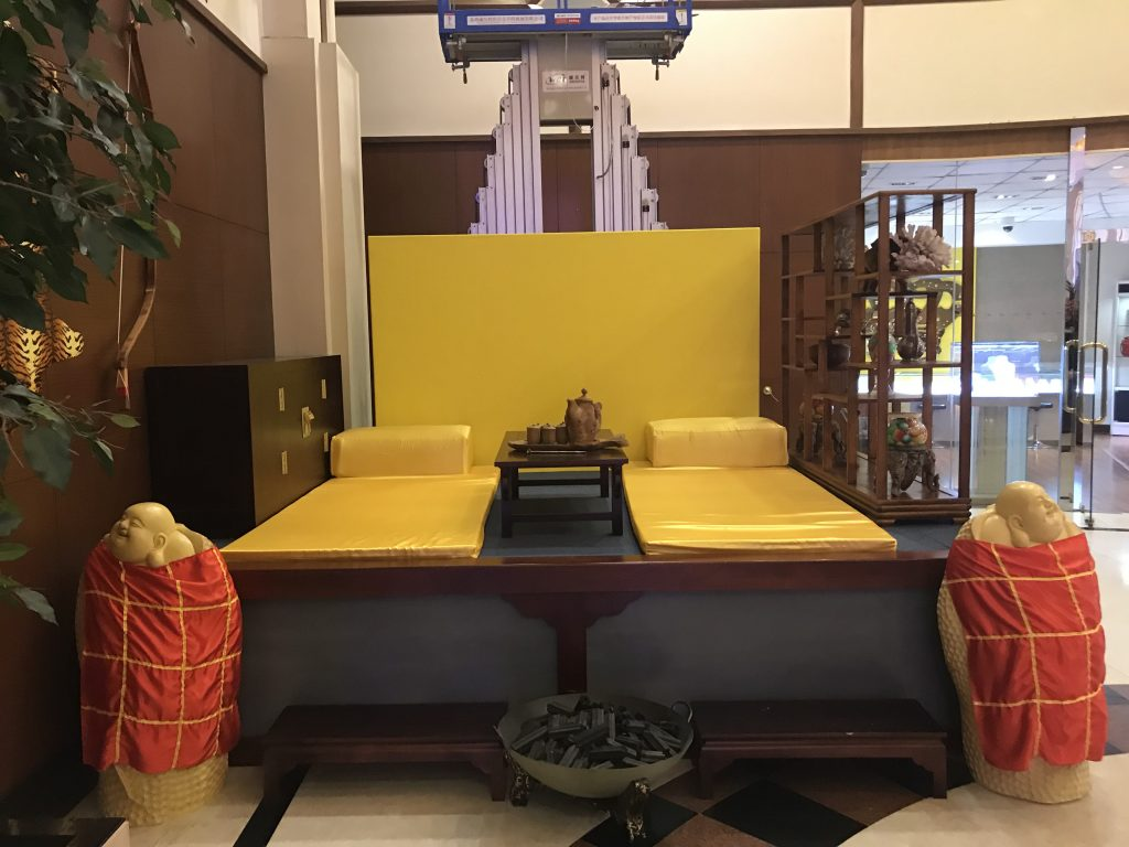 The Imperial Hotel and Casino: a prop throne on display inside the hotel