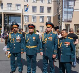 South Ossetian officers