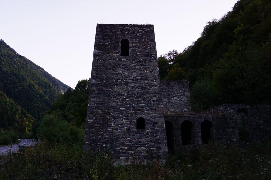 A war site in South Ossetia