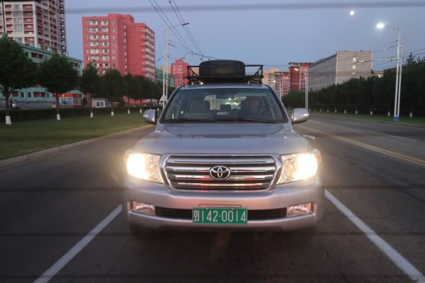 A green license plate in North Korea means a car related to foreign services such as embassies and NGOs