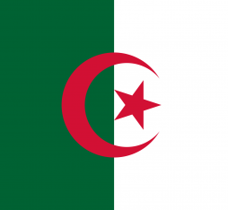 The official flag of Algeria, country of North Africa