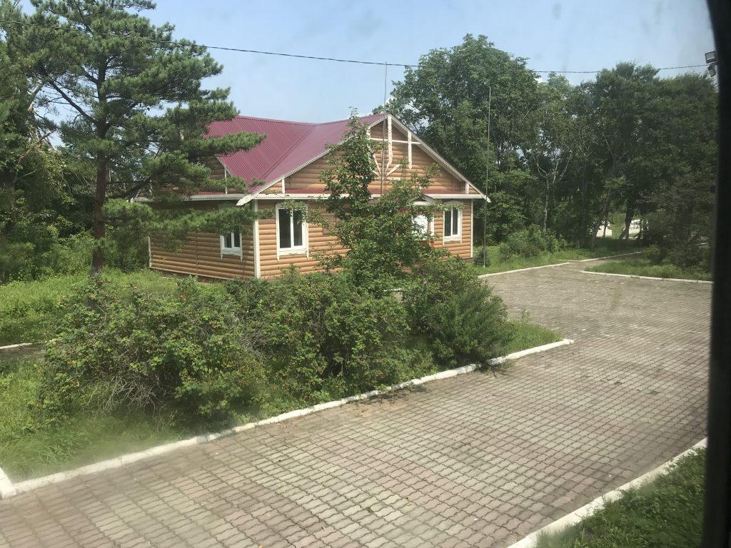 A building in the Russia North Korea border area.