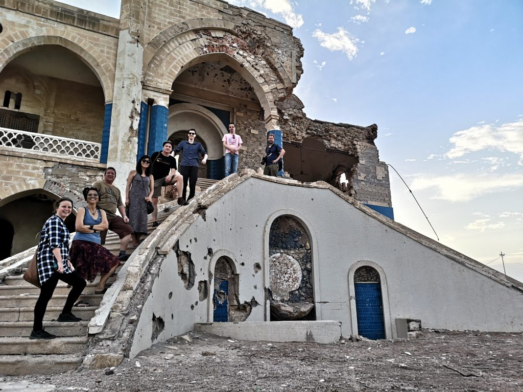 Our group in front of the ruins of a palace in Massawa, Eritrea