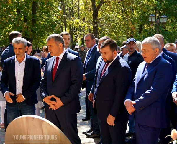 The president of Donetsk attending the celebrations of the Independence Day of South Ossetia