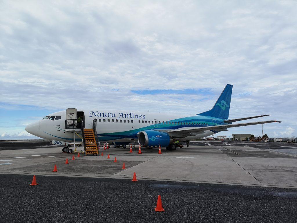 One of Nauru Airlines Boeing 730.