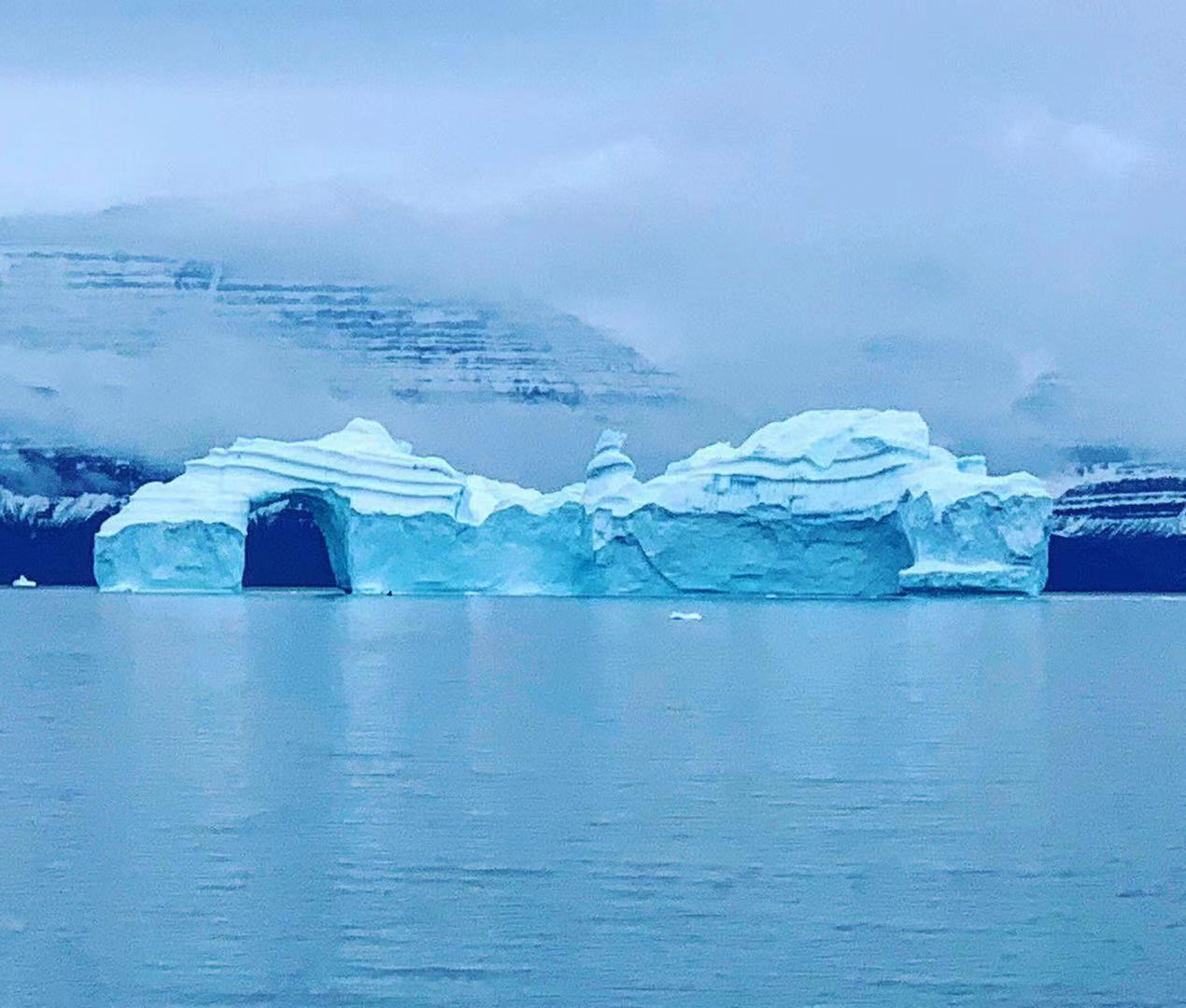 An iceberg we saw on our Greenland cruise.