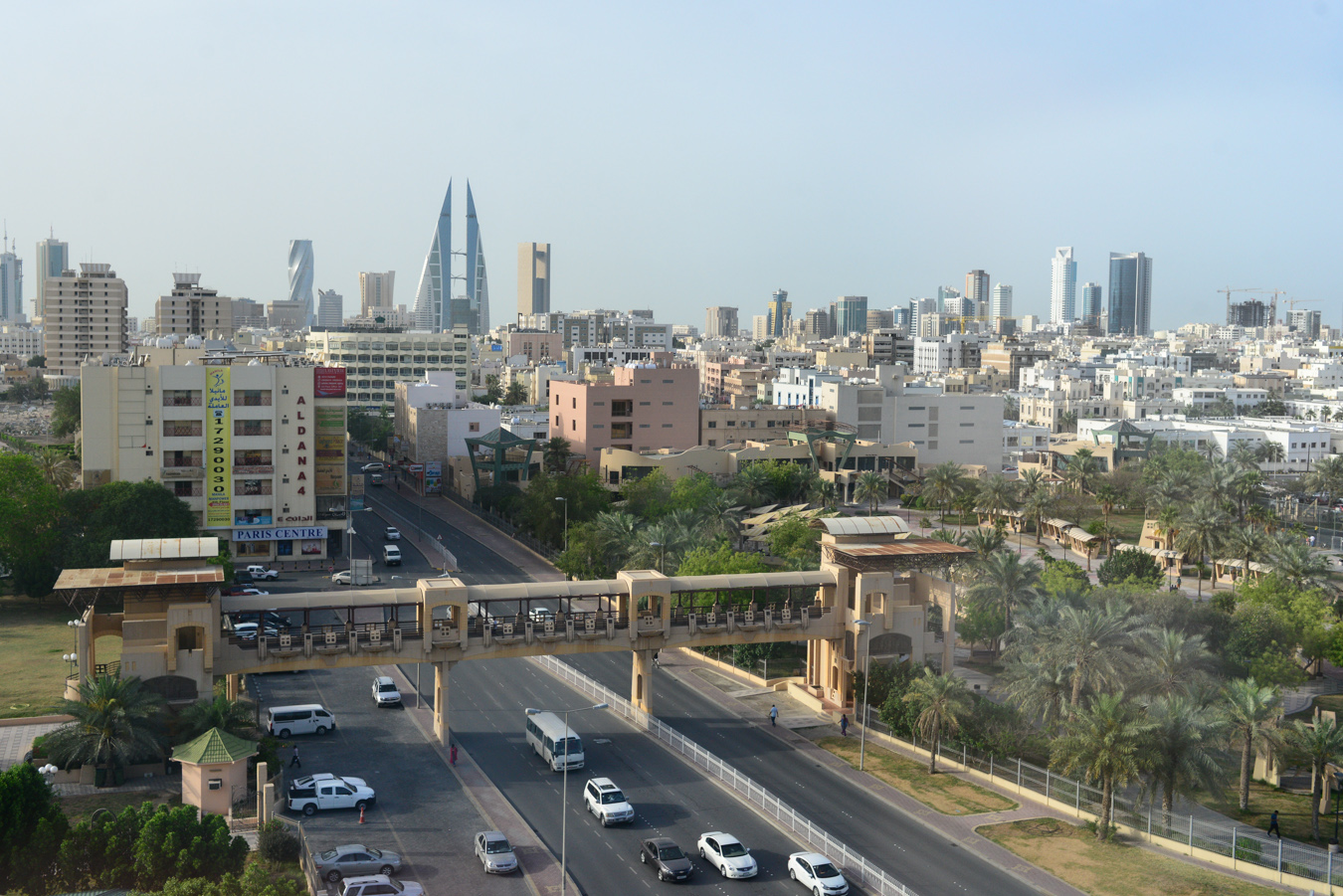 View of the city of Manama in Bahrain